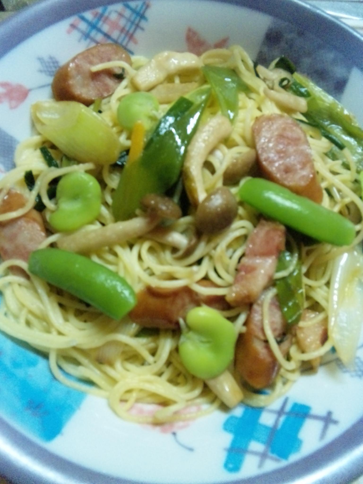 家庭菜園スパゲティ